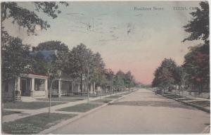 Oklahoma OK Postcard 1915 TULSA Residential Street Homes Indian Trading Company