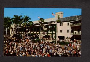 FL Horse Racing Racetrack Hialeah Race Track, Miami Florida Postcard Paddock