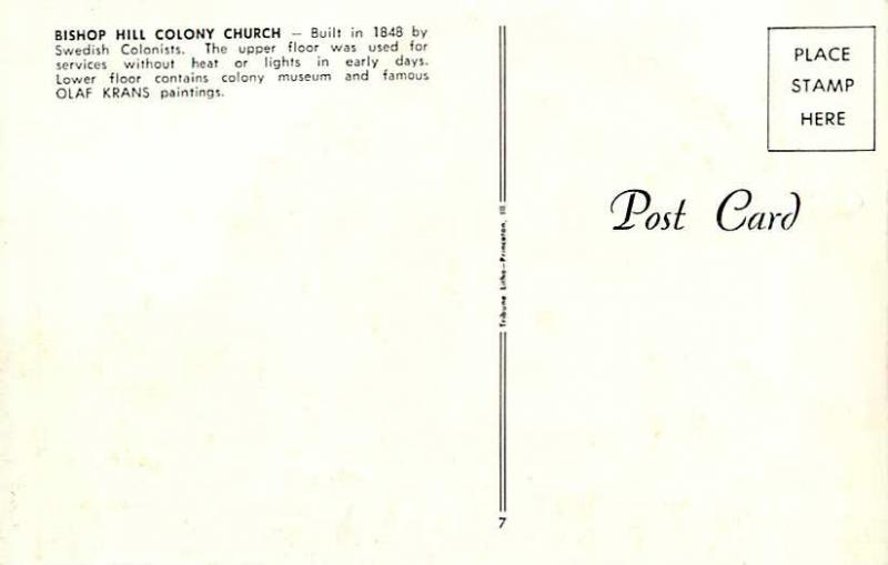 Bishop Hill Colony Church Bishop Illinois IL Chrome