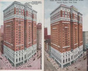 Hotel McAlpin Largest Hotel In The World 2x Old American Postcard s