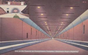 Pennsylvania Turnpike Allegheny Tunnel Interior View