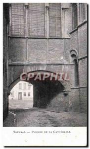 Old Postcard Tournai Passage De La Cathedrale