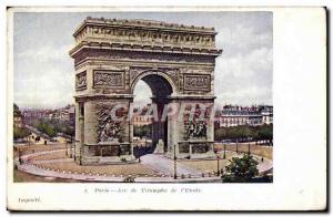 Postcard Old Paris Arch of triumph of & # 39etoile