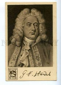 193589 HANDEL German COMPOSER by FW vintage CHARITY PC