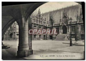 Old Postcard Rouen The Court Of Courthouse