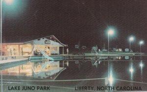 LIBERTY , NC , 50-60s ; Lake Juno Park, Night view of Pool