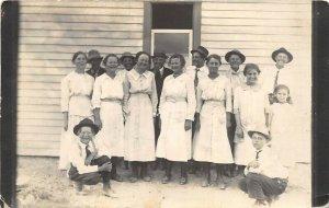 1910s RPPC Real Photo Postcard Cousins In Idaho