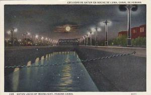 Gatun Locks By Moonlight, Panama Canal, Panama, 1930-1940s
