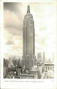 USA New York City Empire State Building RPPC 01.85
