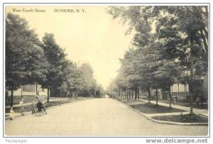 West Fourth Street in Dunkirk, New York State, NY, Albertype Divided back