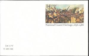 US UX114 Mint. National Guard Heritage, 1636-1986