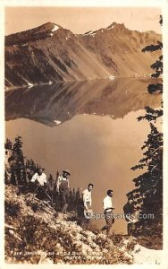 Men on the Side of Mountain - Crater Lake, Oregon