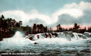 Maine Lewiston West Pitch Falls Of The Androscoggin 1907