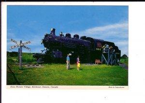 Railway Crossing, Steam Locomotive, Pioneer Village, Kitchener, Ontario