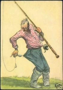 Russian Comic, Fisher, Casting Rod, Boots