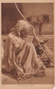 Morocco Mendiant Arabe In Traditional Costume
