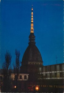 Postcard Italy The  Mole  of Turin and the night