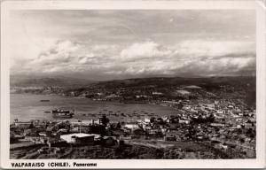 Valparaiso Chile Panorama Real Photo c1954 Postcard E33