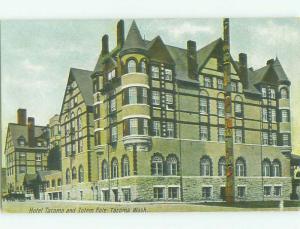 D-back NATIVE INDIAN TOTEM POLE BY TACOMA HOTEL Tacoma Washington WA HQ5562