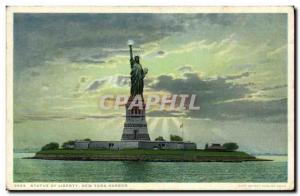 Old Postcard Statue of Liberty Statue of Liberty in New York harbor