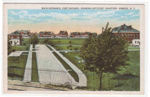 Main Entrance Fort Ontario Oswego New York 1920c postcard