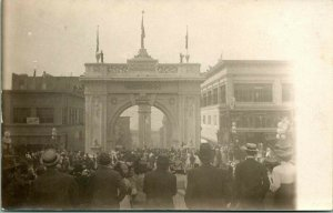 RPPC Vancouver BC Welcome Arch Alaska-Yukon-Pacific Exposition Over Marion St