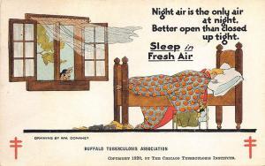 Buffalo NY Tuberculosis Association Wm. Donahey Artist Fresh Air Postcard
