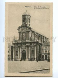 173382 BELGIUM CHARLEROI St-Christopher's Church Vintage PC