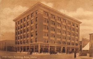 Boise Idaho~W.E. Pierce & Co Idaho Office Building~Downtown~1912 Sepia Postcard