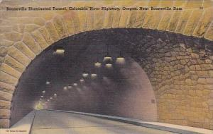 Bonneville Illuminated Tunnel Columbia River Highway Bonneville Dam Oregon