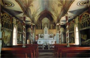 Kona Hawaii~St Benedict's Catholic Church~Interior~1960s Postcard