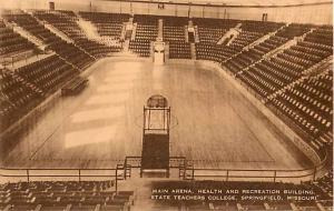 Main Arena State Teachers College Springfield Missouri MO