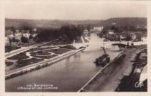France Soissons L'Aisne Et Les Jardins RPPC