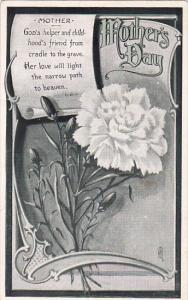 Mother's Day Poem, White Carnation, PU-1915
