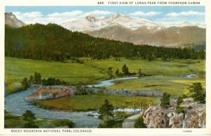 CO - Rocky Mountains National Park. Long's Peak from Thompson Canon
