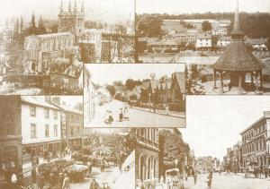 Large Giant Size Crediton Devon Vintage Reproduction Postcard, Multi View OS71