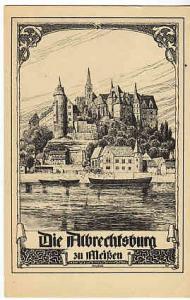 Germany - Meissen Die Albrechtsburg - Art by W. Lenz