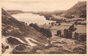 uk19462 the houses howtown and ullswater real photo uk