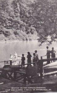 PITTSBURGH, Pennsylvania, 1920-30s; Boating, Connoquenessing Camp Kon-o-kwee,...