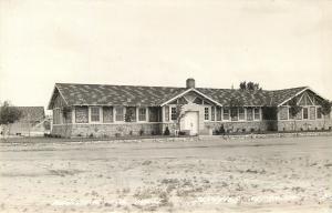 Schuyler Nebraska~Municipal Pool~Bath House~1940s Real Photo Postcard~RPPC