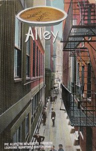 Massachusetts Boston Pie Alley Newsboy's Favorite Lounging Quarters 1909 sk7328