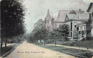 E81/ Martins Ferry Ohio Postcard c1910 Bennett Street Homes 21