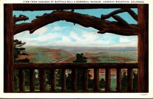 Colorado Lookout Mountain View From Veranda Of Buffalo Bill's Memorial M...