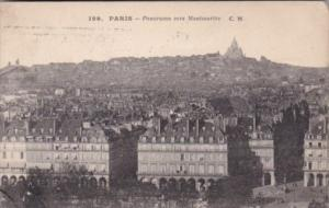 France Paris Panorama vers Montmertre 1919