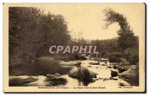 Old Postcard Saint Junien La Glane to Gue Girand