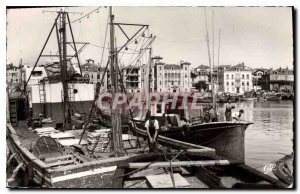 Modern Postcard Saint Jean de Luz Port and House of the Infanta Fishing Boat