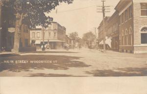 Woodstock Vermont~Main Street~Dentist~Horse Drinking Trough~H Murdock~1905 RPPC