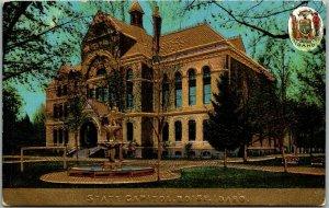 Vintage Boise, Idaho Embossed Postcard Old State Capitol Building UNUSED c1910s