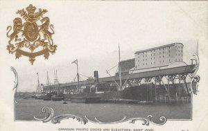ST. JOHN , New Brunswick , Canada, 1900-10s; C.P. Docks & Grain Elevators