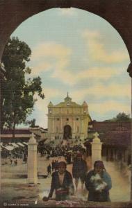 CHICHICASTENANGO , GUATEMALA, 30-40s : Incense Burning at the Calvary Church